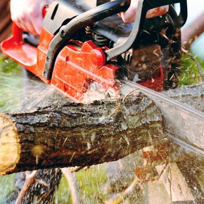 Holzsägen und Spalter